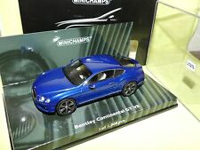 Bentley Continental GT V8 Année de construction 2011 Bleu 1 43 Minichamps