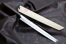 Blue #1 (Aoko) Namiuchi Sakimaru Takobiki 30cm Shitan Sushi Chef Knife YOSHIHIRO