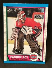 1989-90 OPC O-PEE-CHEE HOCKEY PATRICK ROY CARD #17 MONTREAL CANADIENS MINT