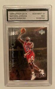 1999 UD Upper Deck Black Diamond Single Michael Jordan #22 GEM MINT 10 Free Ship