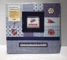 Linda Lu Scrapbook Memory Kit Little All-Star Sports Baseball Soccer Blue 13x13