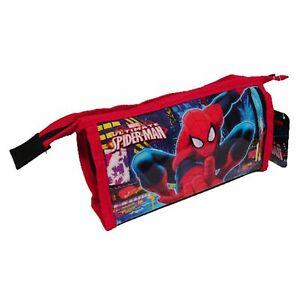 Kids Boys Children's Marvel Ultimate Spiderman Character Wash Bag