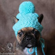 Handmade Crochet Small Dog Breed Puppy French Bulldog Knit Beanie Cap Hat Beanie