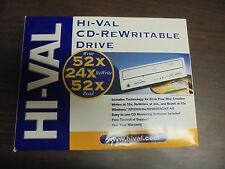 HI-VAL CD-Rewritable Drive 52X Write 24x ReWrite 52x  Read