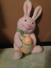 "13"" Hallmark Singing Animated Easter Bunny Rabbit And Chick Plush Stuffed Animal"