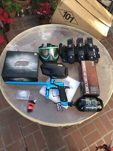 Dangerous Power G5 Paintball Marker TurqUoises/black Bundle Look In Description