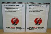 "2 NEW Parker HeatSeal Photopages #812 Each Page Holds -2- 8"" x 12"" Prints"