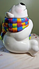 Ceramic Polar Bear Cookie Jar Ony Displayed No Box