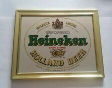 Vintage Heineken Beer Brass Tone Framed Bar Advertising - Since 1592- Mirror