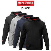 Mens Hard Yakka Brushed Fleece Hoodie 2 PACK Jumper Winter Workwear Work Y19326