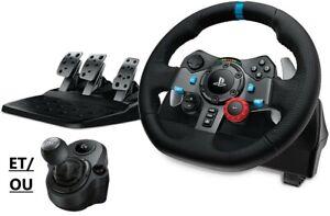 Volant de course + Pédales Logitech G29 Simulateur de conduite PS3, PS4, PS5, PC