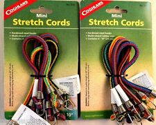 8 PK 10 INCH BUNGEE CORDS SET OF 8 STRETCH TO 15 INCH, MULTI-STRAND RUBBER CORE