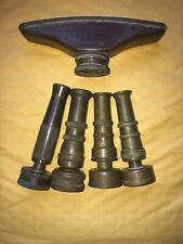 Lot 5 Vintage Brass Garden Water Nozzles Sprayers