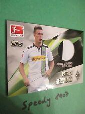 Topps Bundesliga Chrome 2016 Trikot Karte Herrmann Mgladbach Jersey Trikotkarte
