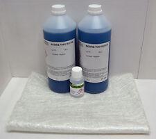 2 kg Résine polyester isophtalique+ 60 ml catalyseur PMEC + 2 m² Mat 225 g/m²