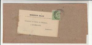 Belgium / Military Mail / France / Wrappers / Moniteur Belge