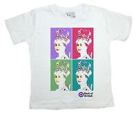 "Dirty Fingers Girl T-Shirt Top ""Queen Elizabeth"" Pop Art Warhol Britain British"