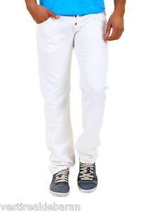 Pantaloni Uomo Jeans BRAY STEVE ALAN B646 Regolare Gamba Dritta BIanco Tg 33