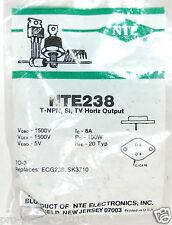 Nte Nte238 Bipolar (Bjt) Single Transistor, Npn, 750 V, 100 W, 8 A, 8 hFe