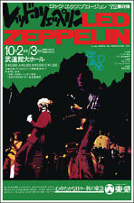Led Zeppelin Japan Budokan 1972 Concert Poster