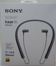 Sony - h.ear in Wireless In-Ear Behind-the-Neck Headphones - Charcoal black