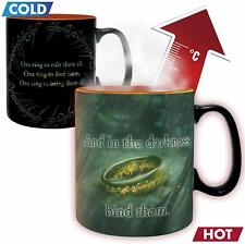 OFFICIAL LORD OF THE RINGS SAURON HEAT CHANGING MAGIC COFFEE MUG CUP NEW IN BOX