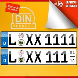 2 Kfz Kennzeichen 520x110 Nummernschilder Autoschilder Autokennzeichen