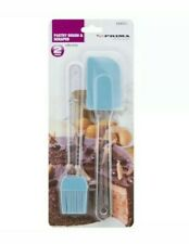 NEW 2PC SILICONE PASTRY BRUSH AND SCRAPER KITCHEN BAKING TOOL SPATULA BBQ