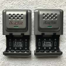 Lot of 2 Energizer CHDC Plug in Ni-MH Rechargeable Battery Chargers For AA & AAA
