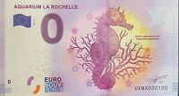 BILLET 0  EURO AQUARIUM DE LA ROCHELLE   FRANCE 2017 NUMERO 100