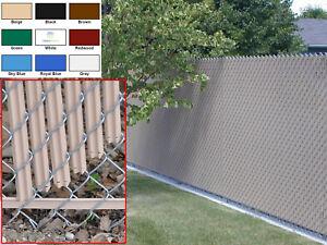 Chain Link Fence Privacy Slats - Single Wall - Bottom Locking Slat - 9 Colors