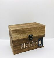 Rae Dunn Artisan Collection By Magenta Wooden RECIPES Box.