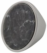 Pilgrim Jewellery Silver Plated Grey swirl Large Oval Ring, boho gift for her