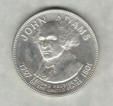 More details for franklin mint john adams 2nd president usa one ounce silver medal.