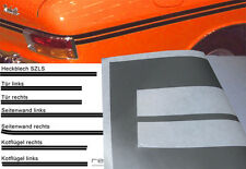 Lackierschablone Zierstreifen Opel Kadett B Rallye F-Coupe SZLS bis MJ71 CIH OHV