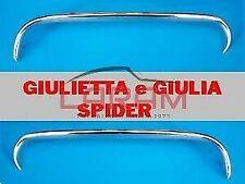 2 baffi anteriori cromati per Giulietta e Giulia Spider - eyebrow front