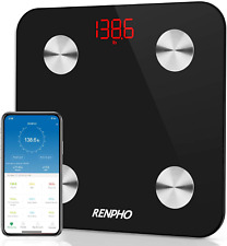 RENPHO Körperfettwaage, Bluetooth Körperanalysewaage App, Smart Personenwaage