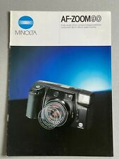 Minolta AF-Zoom90, 35mm Film Camera,  A4 Paper Brochure, 6 Pages Pull Out