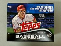 2014 Topps Series 1 Hta Jumbo HTA Empty Box with Images of Mike Trout Angels