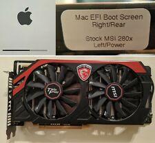  MSI AMD Radeon R9 280X 3GB FLASHED for Mac Pro 1.1-5.1 4K Boot Screen