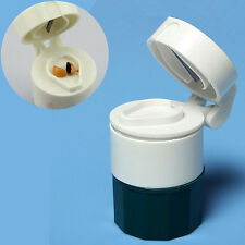 Neues Pillen / Tabletten Zerkleinerer Mahlgerät Trenner Aufbewahrungsbox KAKI