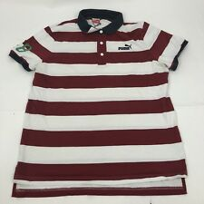 Puma XL T shirt Striped Red white number 48 short sleeve casual top polo