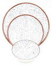 Melange 36-Piece Shatter-Proof and Chip-Resistant Sky Blue Dinnerware Set