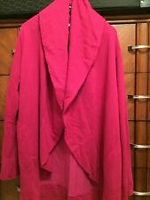 XL Bryn Walker Juggler Pink Bamboo Organic Cotton Shawl Wrap Coat Jacket New