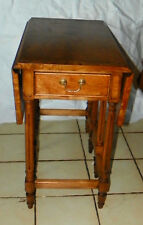 Pecan Dropleaf Gateleg End Table / Side Table by Thomasville