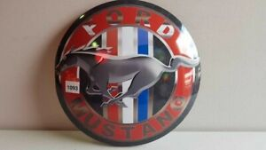 Ford Mustang Tin Button 400mm