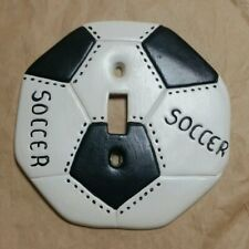 1973 SOCCER BALL LIGHT SWITCH WALL PLATE COVER UPS PRICKETT ORLANDO FLORIDA