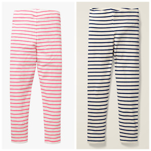 Ex Mini Boden Navy/Ecru & Pink Stripe Fun Leggings 2-12Yrs