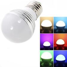 2PCS E27 3W 85-265V Magic RGB Color Changing LED Light Bulb with Remote Control