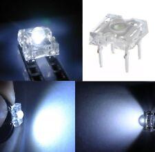 50 diodi led PIRANHA SUPERFLUX 5 mm bianco freddo resistenze NON INCLUSE